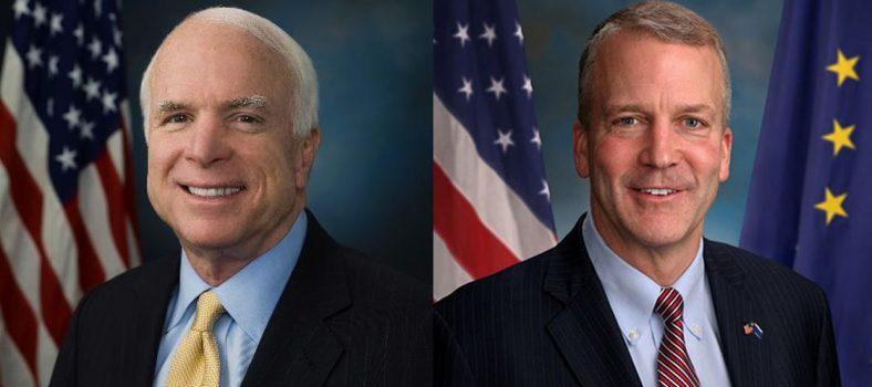 Official pages of Senators McCain and Sullivan
