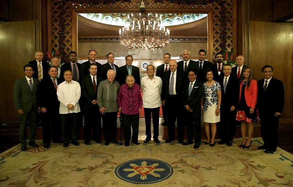 US-Philippines Society Board of Directors at Malacanan Palace with President Benigno S. Aquino III, 23 June 2016