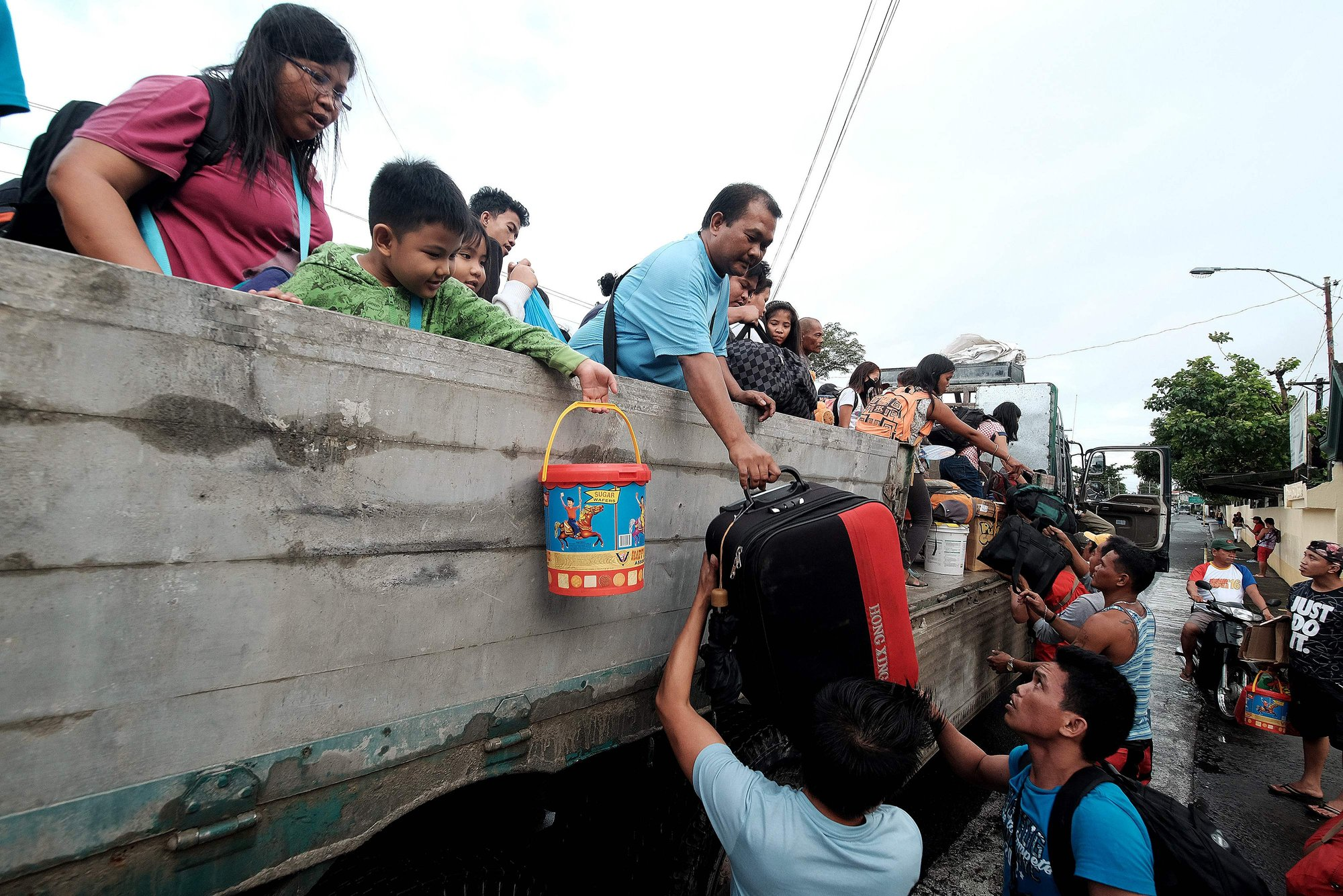 Evacuation of Storm Victims. Source: Getty